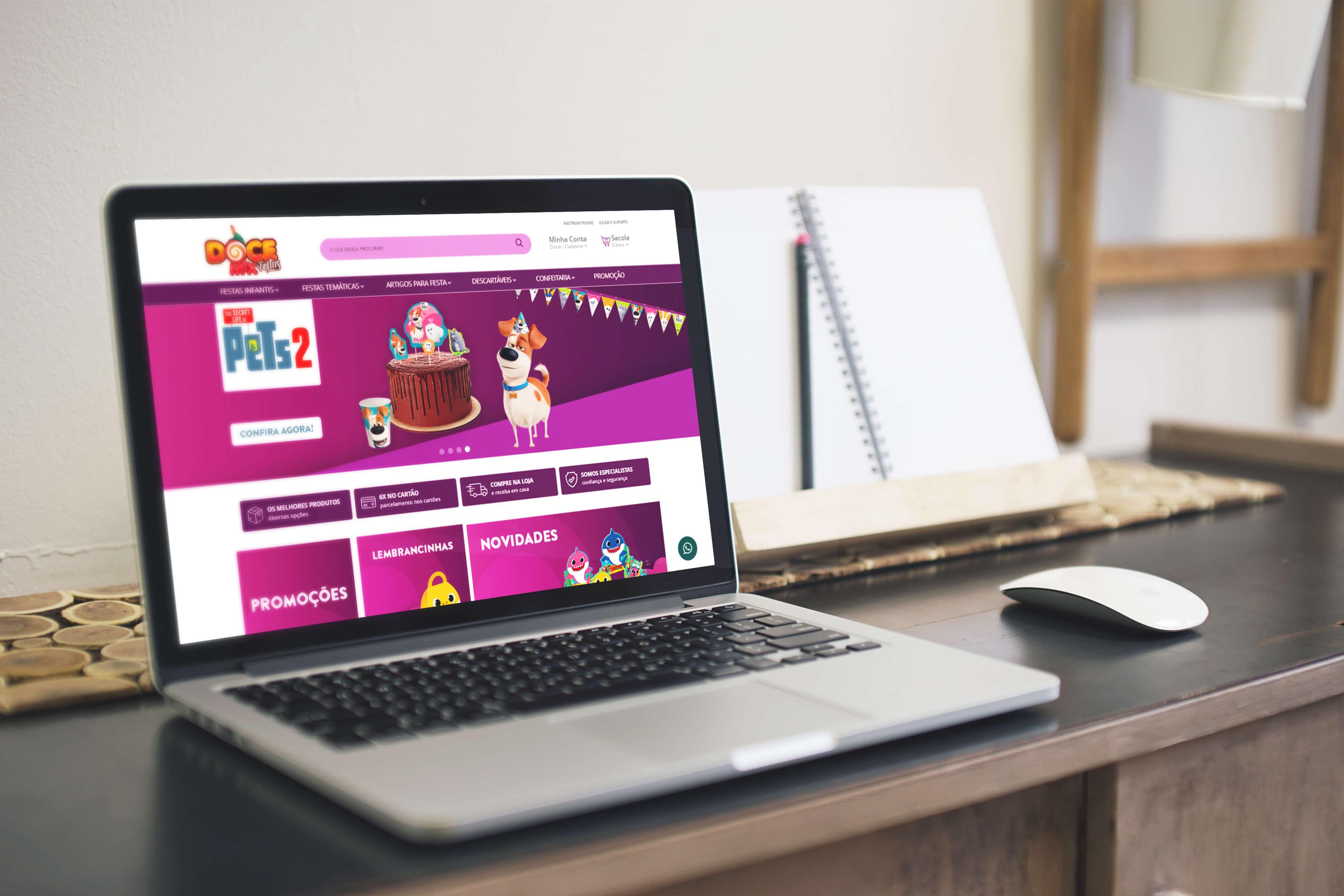 Websites Doce Mix | Booom Criative - Agência de Marketing Digital em Curitiba