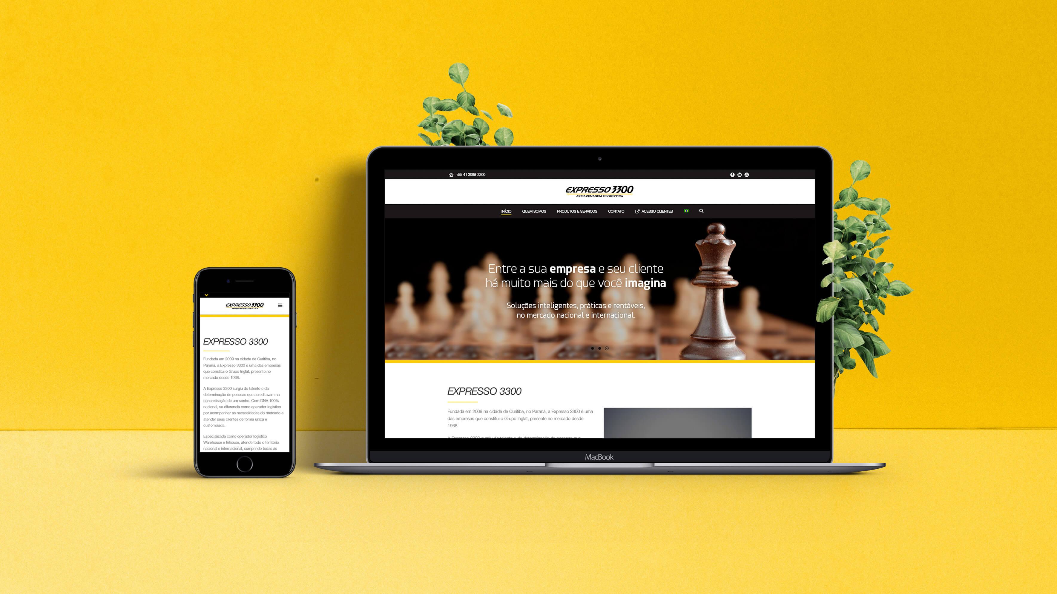 Websites Expresso 3300 | Booom Criative - Agência de Marketing Digital em Curitiba