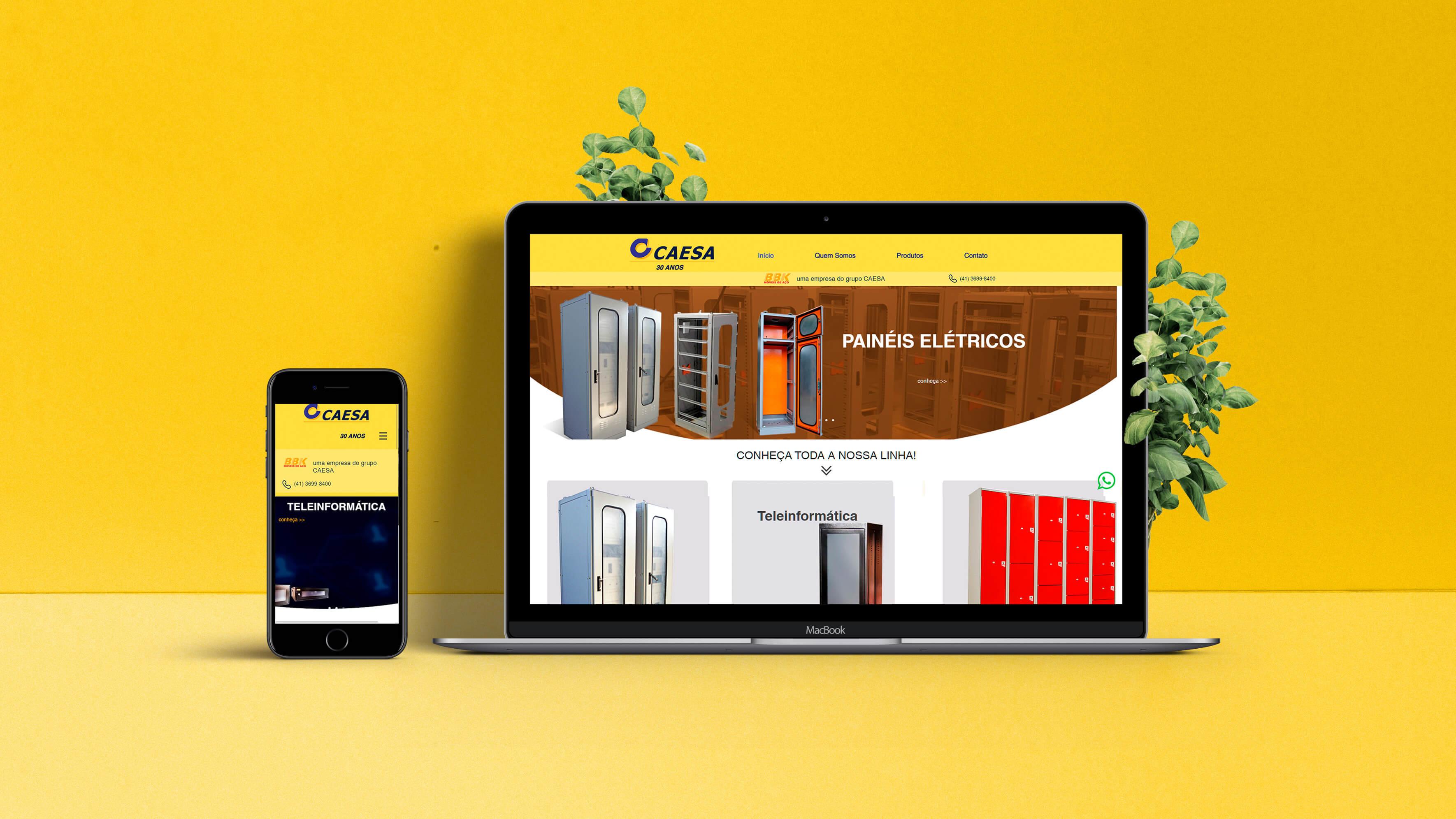 Websites CAESA | Booom Criative - Agência de Marketing Digital em Curitiba