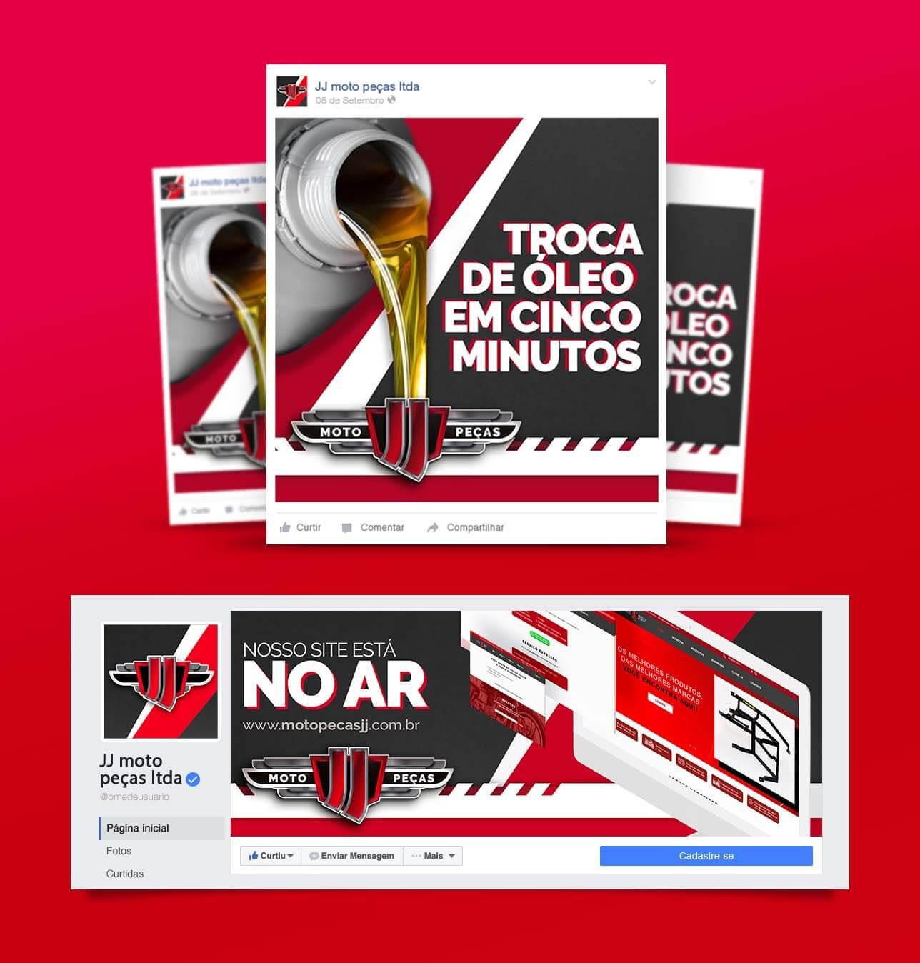 JJ Moto Peças | Booom Criative - Agência de Marketing Digital em Curitiba